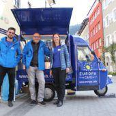 Europacafé tourt mit viel Kaffee, Informationen und Europa durchs Ländle