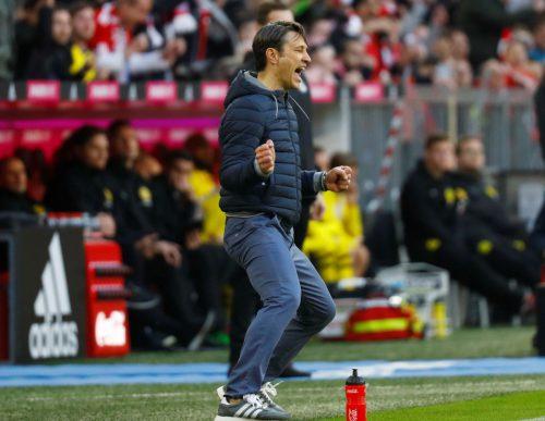 """Kovac freut sich über einen großen Sieg. Und er warnt: """"Es sind noch sechs Spiele. Man hat ja gesehen, wie schnell es in der Liga geht.""""Reuters"""