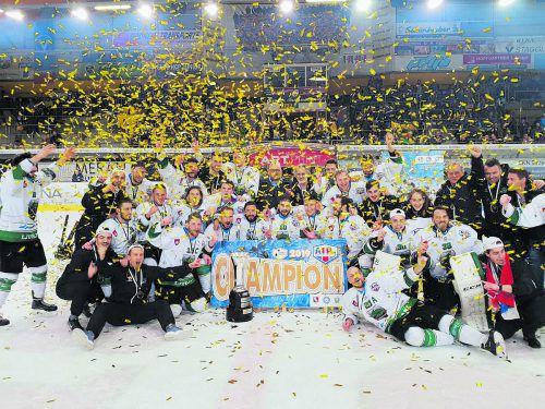 Laibacher Jubel über den AHL-Titel 2018/19.ahl