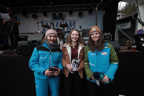 Lea Grabher (2.), Eva Heufelder (1.) und Lisa Sele (3.).