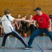 Kämpfen mit dem Shotokan-Meister