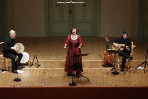 Lucilla Galeazzi mit Carmine Bruno und Marcello Vitale im Markus-Sittikus-Saal in Hohenems. schubertiade