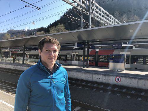 Manuel Winkler hat am Feldkircher Bahnhof gemeinsam mit weiteren Männer einen rabiaten Mann mit Messer gestoppt. VN/schweigkofler