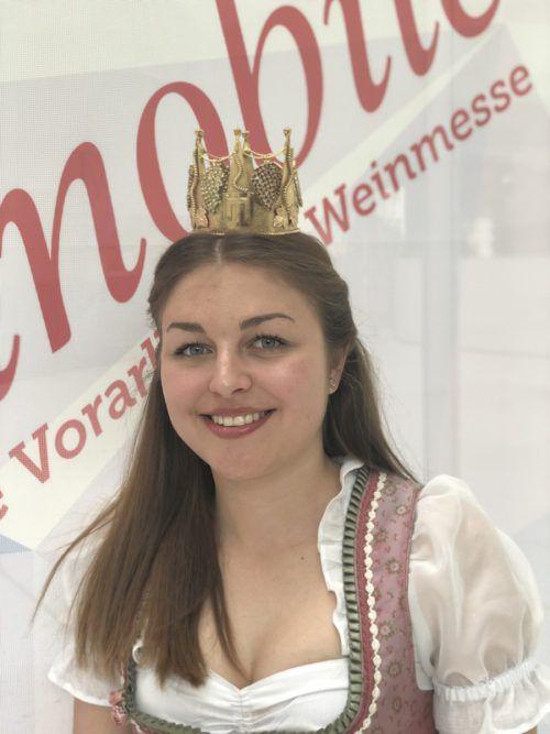 Marie Weber wurde zur Weinkönigin gekrönt. VN/Schweigkofler