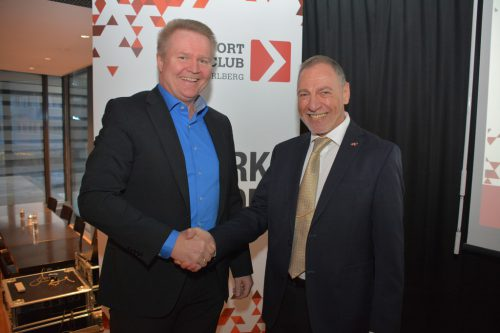 Martin Fitz (links) übernimmt die Präsidentschaft von Josef Vonach.Exportclub