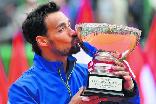 Mit 31 Jahren im zweiten Frühling: Fabio Fognini gewann das Turnier in Monte Carlo.apa