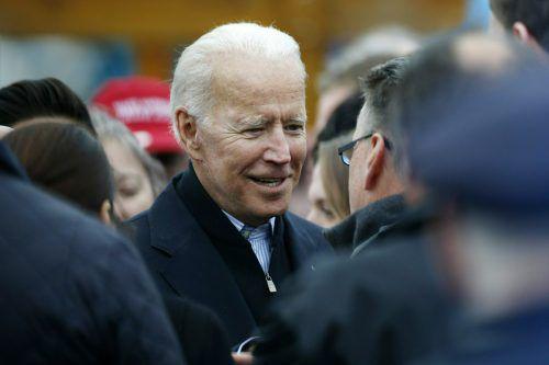 Mit Biden gibt es nun 20 demokratische Anwärter für die Kandidatur. AP