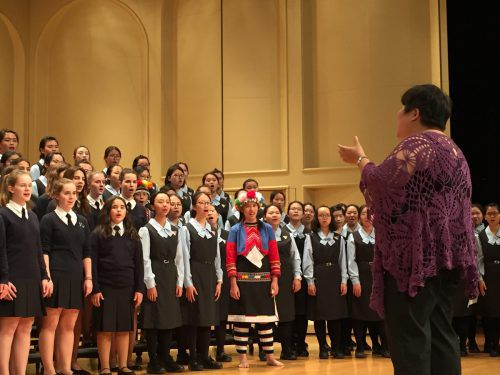 Mitglieder der beiden Schulchöre aus Chiayi und Bregenz beim letztjährigen gemeinsamen Konzertauftritt in Taiwan.sacré coeur riedenburg
