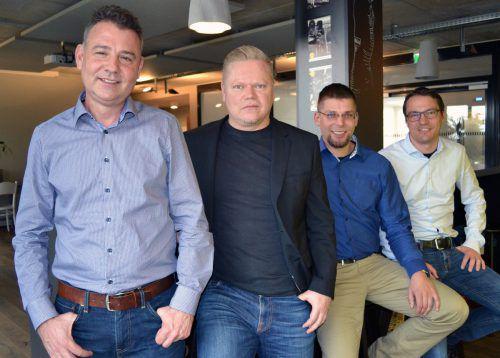 Modulpool – SAP-Spezialisten: Christoph Beer, Roman Meusburger, Kai Fredrich, Andreas Mauerhofer (v. l.). arxos