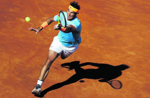 Nach Startschwierigkeiten in Runde zwei: Rafael Nadal.ap