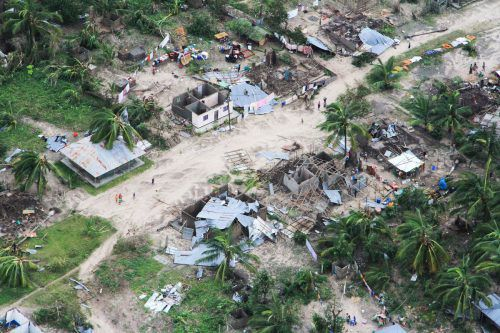 "Nach Zyklon ""Idai"" hat nun ""Kenneth"" große Teile Mosambiks zerstört. AFP/ocha"