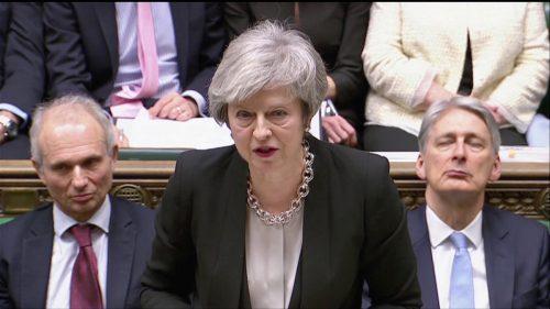 Premierministerin May warnt vor Abkehr vom Brexit. REUTERS
