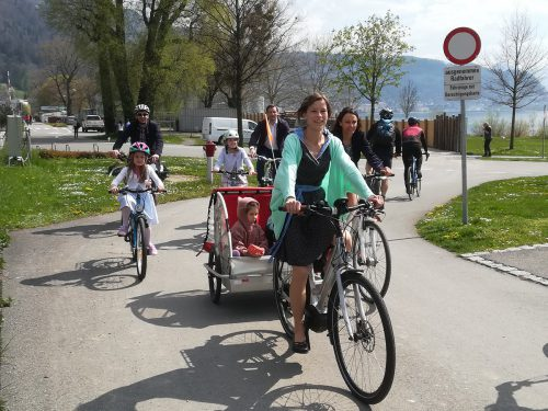 """""""Radfahren macht Spaß und ist umweltfreundlich"""", meint Veronika Rüdisser. Radlobby"""
