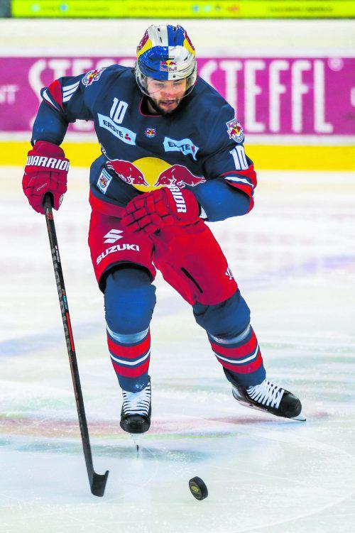 Raphael Herburger erzielte für Salzburg den Ausgleichstreffer zum 3:3.gepa