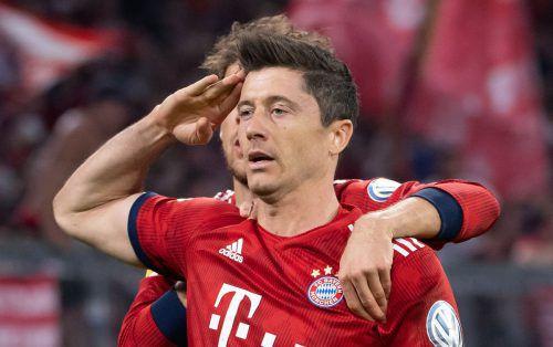 Robert Lewandowski war der Lebensretter der Bayern im Pokalspiel.afp