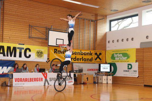 Rosa Kopf und Svenja Bachmann zeigten am vergangenen Wochenende sowohl beim ASVÖ-Cup in Sulz als auch am Swiss Cup in Mörschwil groß auf.Privat
