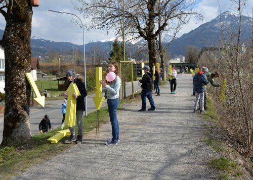 Schülerinnen und Schüler des Bundesgymnasiums Dornbirn im Einsatz für eine saubere Umwelt. Stadt