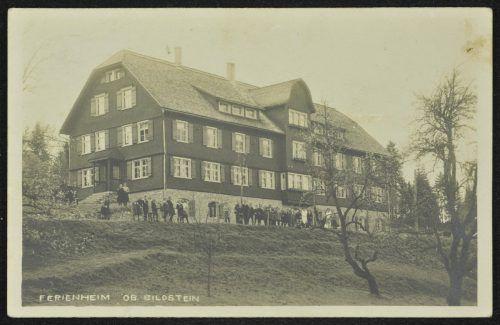 So sah das FerienheimOberbildstein 1926 aus.