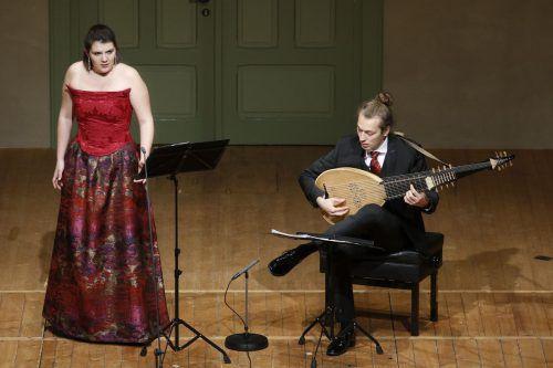 Sophie Renner und David Bergmüller im Markus-Sittikus-Saal. Schubertiade