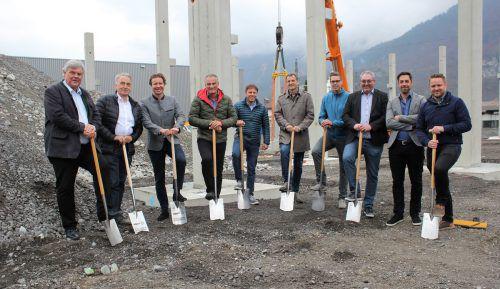 Spaten für neue Industriehalle in Bludenzer Klarenbrunnstraße wurden gesteckt. VN/JS