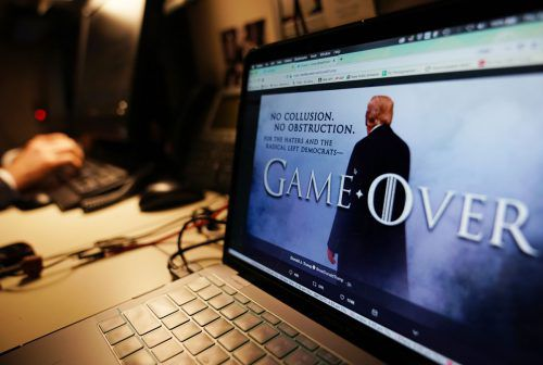 """""""Spiel aus"""" (""""Game Over"""") schleudert Trump seinen Gegnern in einer als Fotomontage gestalteten Twitter-Botschaft entgegen. AFp"""