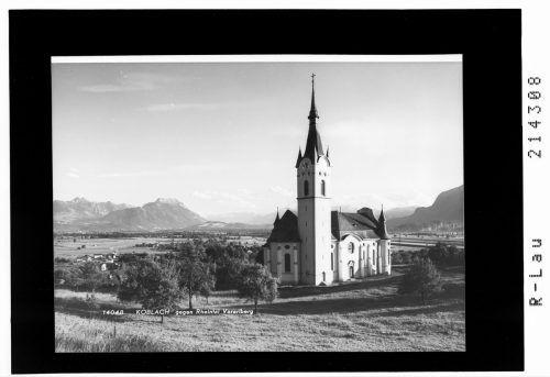 St. Kilian und der Blick Richtung Feldkirch.