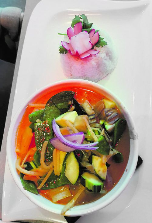 Tadellos: Das Rote Thai Curry mit Crevetten.