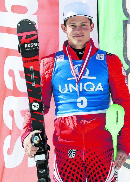 Thomas Dorner, der schnellste Vorarlberger in Mellau.gepa