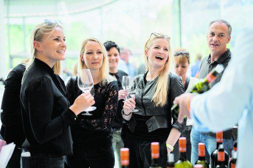 Treffpunkt für Weinliebhaber: die Vinobile im Montforthaus. matthias rhomberg