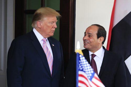 US-Präsident Trump traf sich mit seinem ägyptischen Amtskollegen al-Sisi am 9. April. AP