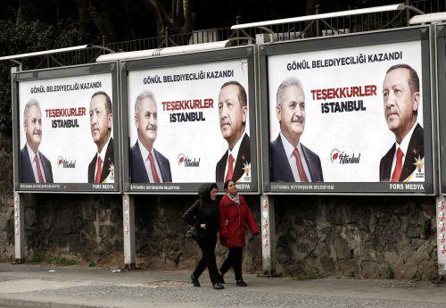 Verluste für Erdogans AK-Partei-Kandidat in Ankara, Binali Yildirim. reuters