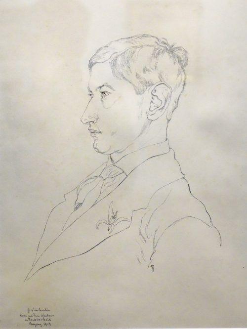 Wacker-Porträt-Zeichnung von John Jack Vrieslander aus dem Jahr 1913. R. sagmeister