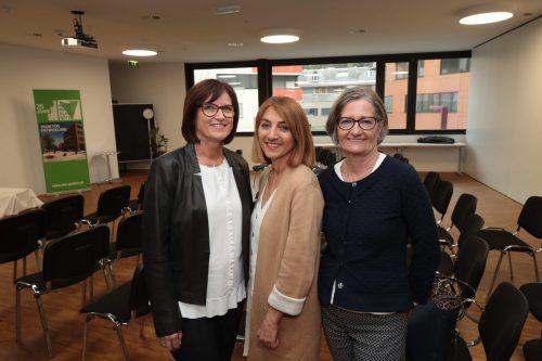 Waltraud Bell, Sabine Mittelberger und Elisabeth Waibel.