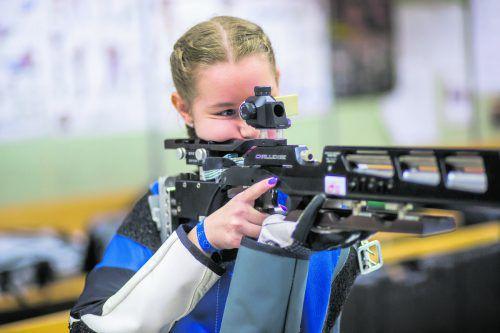 Yvonne Klocker wurde erstmals Meisterin im Luft-gewehrbewerb der Juniorinnen. Steurer