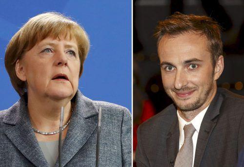 Zoff zwischen Kanzlerin Angela Merkel und Satiriker Jan Böhmermann. reuters