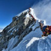 Langer Stau am Mount Everest