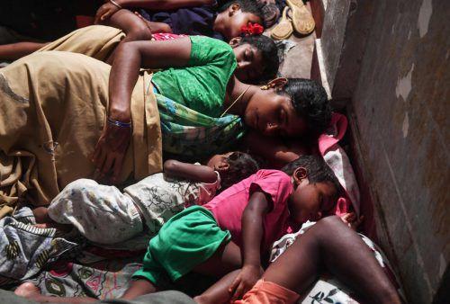 Allein in Odisha mussten rund 1,2 Millionen Menschen ihre Häuser verlassen. AFP