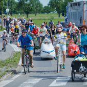 Fahrradparade zum Heidensand