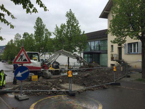 Anfang Mai wurde mit den Arbeiten am Bildungszentrum Hofen gestartet.VN/JLO