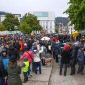Demonstration gegen Asylpolitik kehrte nach Bregenz zurück