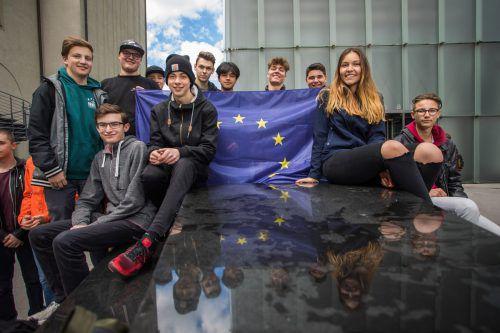 """Auch eine Klasse der HTL Bregenz nahm an der """"Treffpunkt Europa-Veranstaltung"""" teil."""