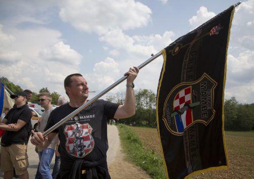 """Auch Kriegsveteranen, etwa von den Paramilitärs """"Schwarze Mambas"""", kommen nach Bleiburg. ap"""