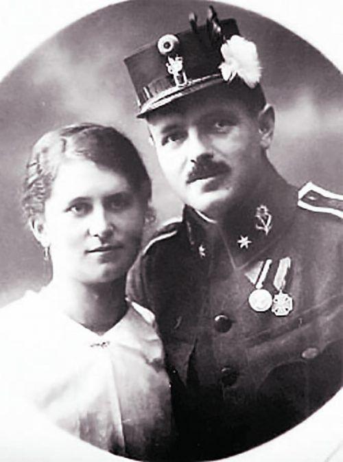 Bei seiner Hochzeit 1912 trug Riedmann noch stolz die Uniform eines k.k. Leutnants der Reserve.