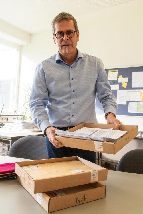 Bereitet zum letzten Mal die Matura vor: Helmut Abl vom BG Bludenz. VN