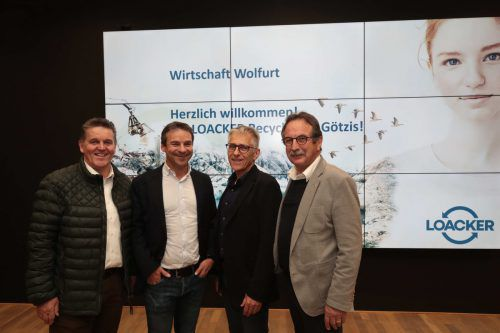 Bgm. Christian Natter, Dieter Schatz, Karl Loacker und Obmann Walter Eberle.