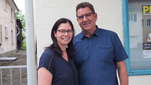 Bürgermeisterin Katharina Wöss-Krall und Gemeinderat Helmut Jenny feierten mit.