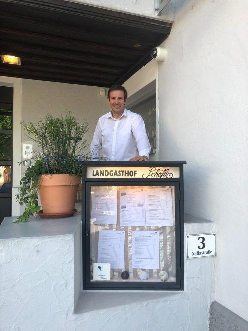 Christoph Fulterer stand plötzlich ohne Köche da. VN/Schweigkofler