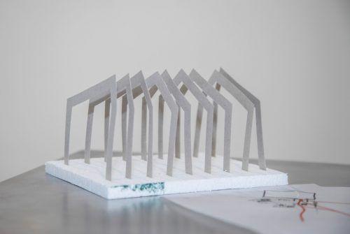 Das Architektur-Labor zeigt Modelle für den Außenbereich.