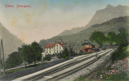 Das Bahnhofsgelände im Jahr 1907.