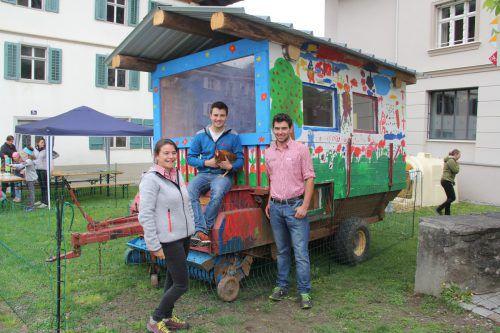 Das Kernteam des Eggxpress Landjugend Montafon: Magdalena Maier, Lukas Maier und Philipp Mattle. STR